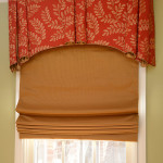 Window Works Studio valance with cordless roman shade window treatments