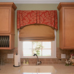 Window Works Studio valance and cordless Roman shade window treatments