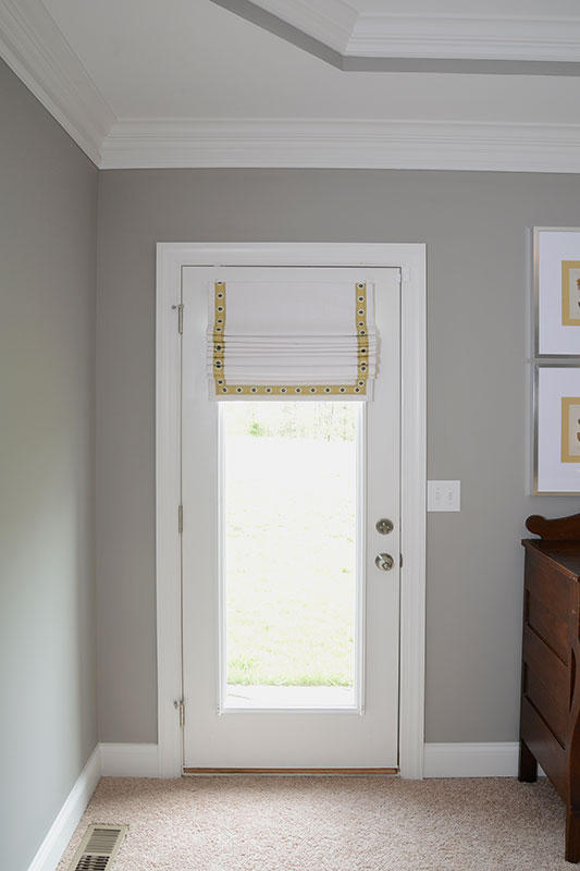 Window Works Studio cordless roman shade window treatment