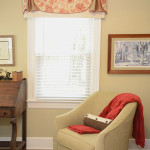 Window Works Studio valance and chair slipcover