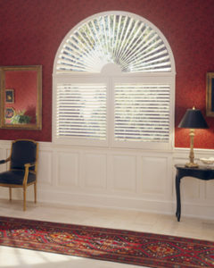 Curved window treatment, Heritage Shutters