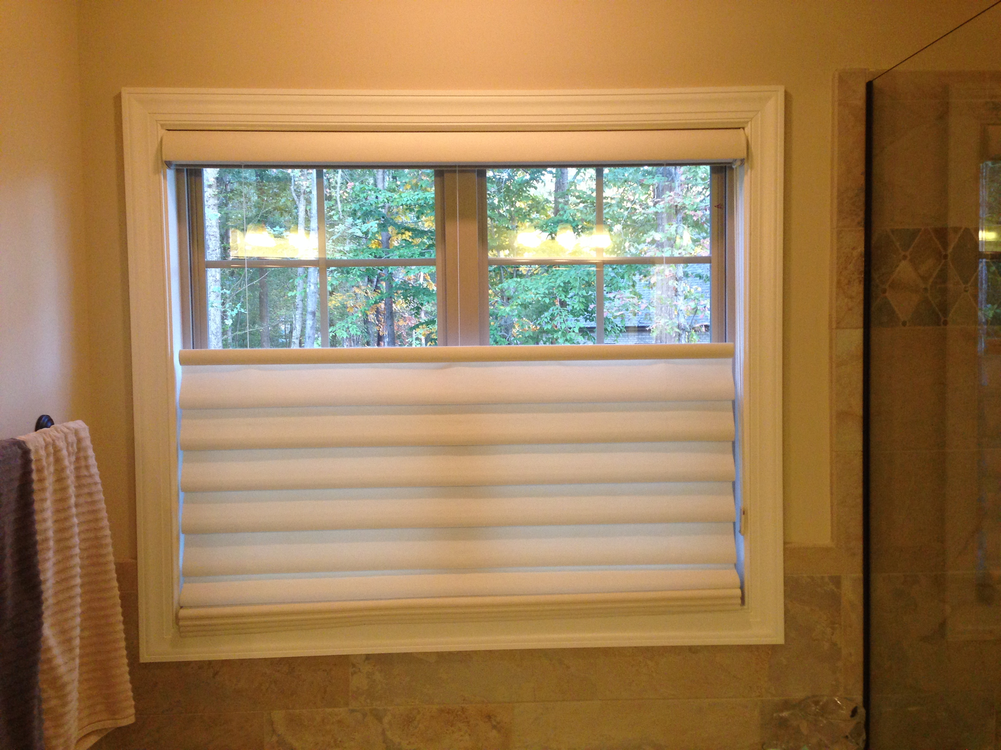 Motorized top down bottom up roman shades com top down for Motorized top down bottom up shades