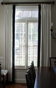 Casement Window treatment